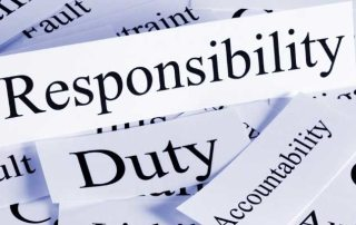 """the words """"responsibility"""", """"duty"""" and """"accountability"""""""